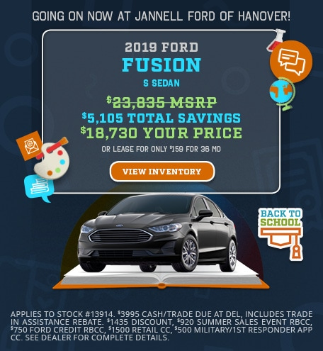 2019 Ford Fusion Special Offer