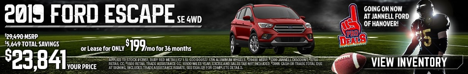 2019 Ford Escape Special Offer