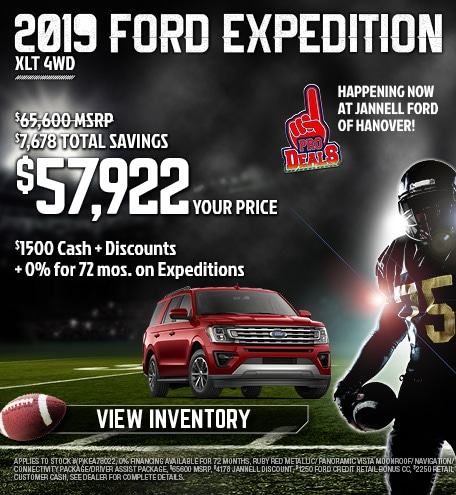2019 Ford Expedition Special Offer