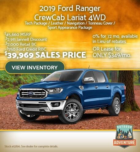 2019 Ford Ranger CewCab Lariat 4WD