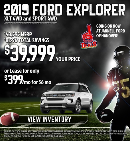 2019 Ford Explorer Special Offer