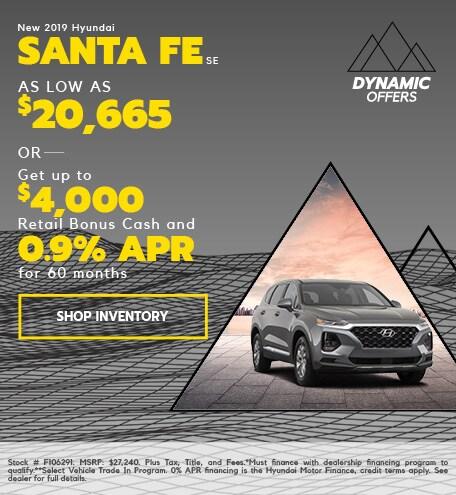 New 2019 Hyundai Santa Fe SE