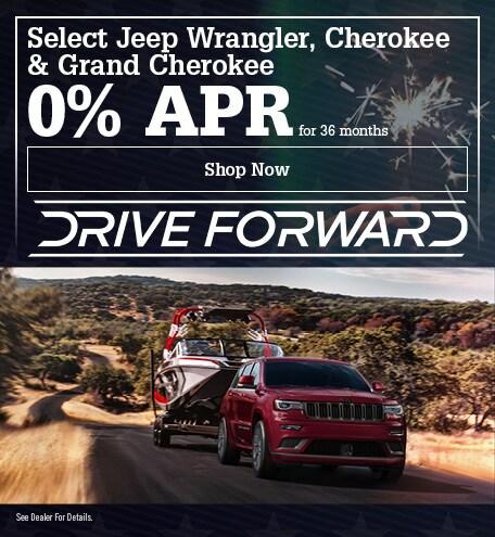 Select Jeep Wrangler, Cherokee & Grand Cherokee June