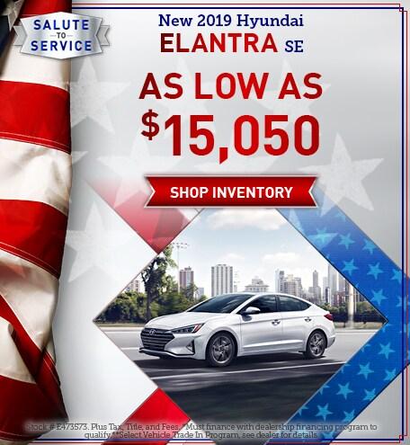 May New 2019 Hyundai Elantra SE