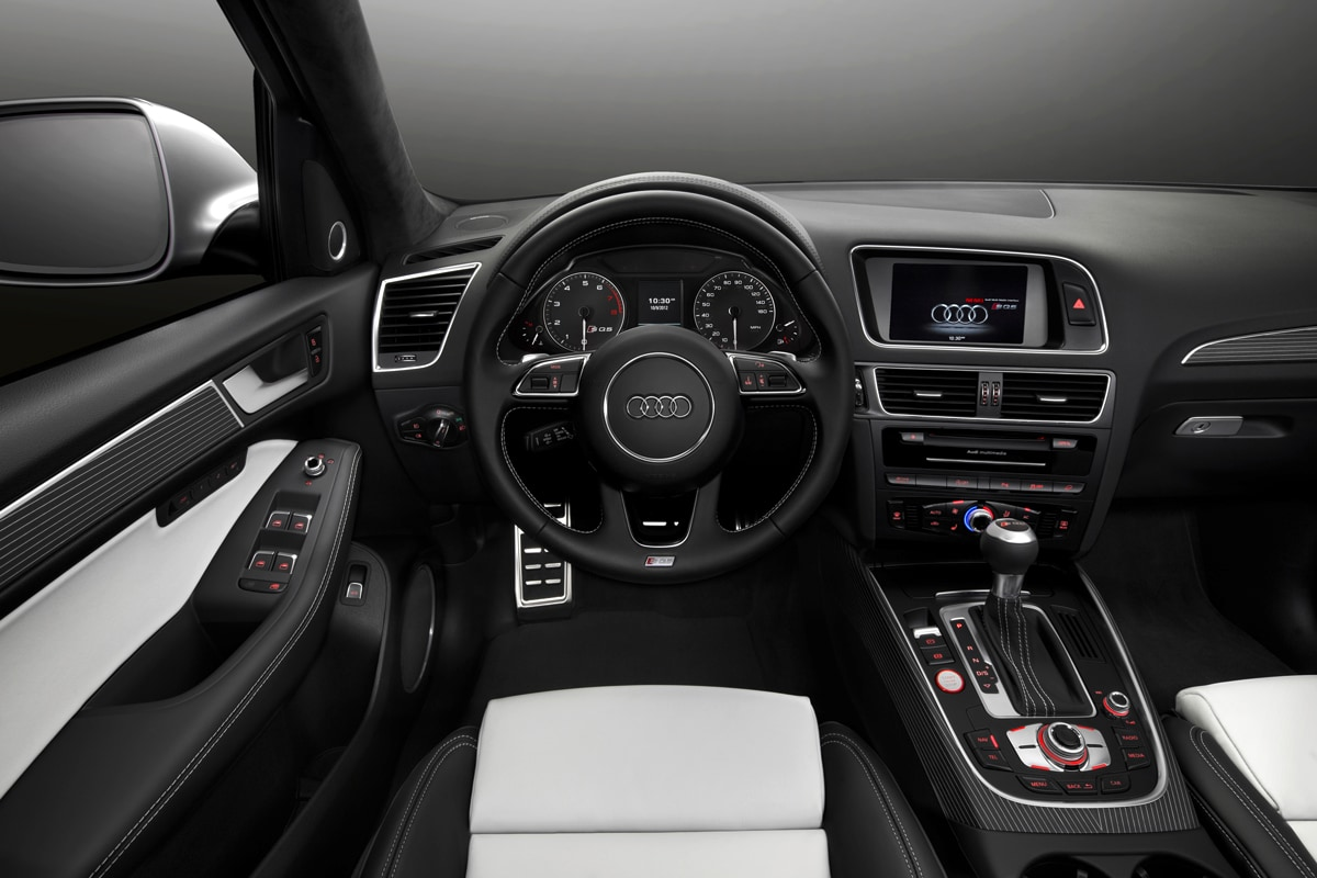 Audi Q5 White 2014 Black Rims