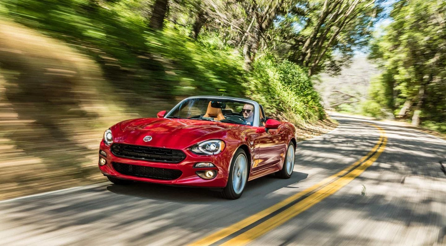 2018 FIAT 124 Spider Red Exterior Front View