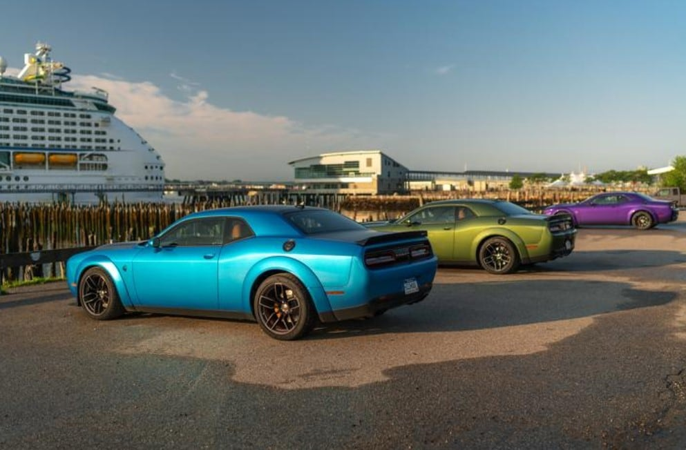 2019 Dodge Challenger Redeye Blue Green Purple Exterior