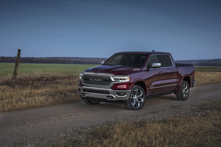 2019 Ram 1500 Limited Front Dark Red Exterior