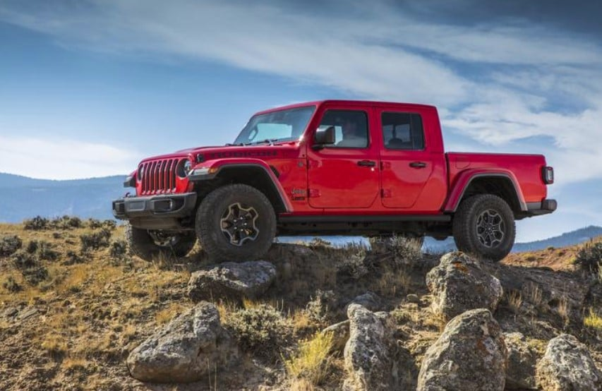 2020 Jeep Gladiator Side Red Exterior