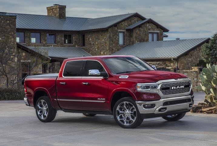 2019 Ram 1500 Limited Parked Red Exterior
