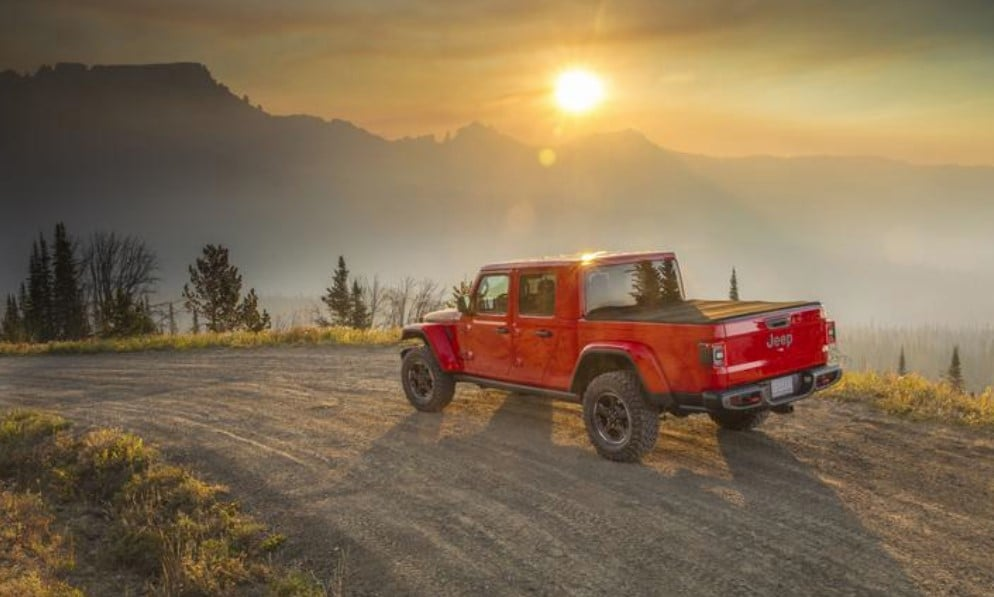 2020 Jeep Gladiator Rubicon Rear Exterior Red