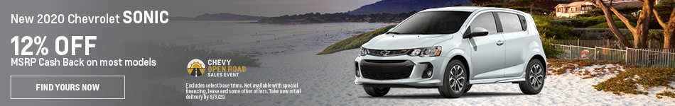 New 2020 Chevrolet Sonic