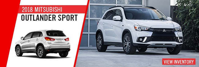 The new 2018 Mitsubishi Outlander Sport is available now at Jeff Smith Mitsubishi in Byron