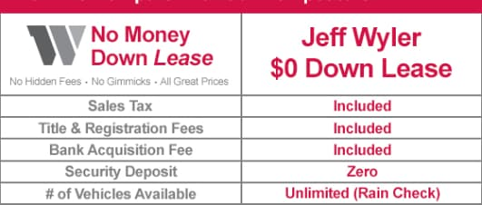 See Below For Our Current No Money Down Lease Deals And Specials. If You  Have A Question, Give Us A Call And Our Courteous And Professional Staff  Will Help ...
