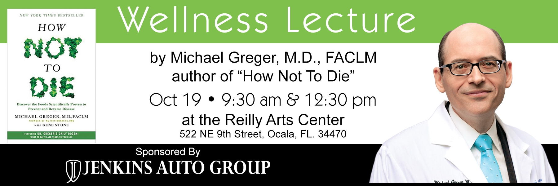 Attend the Dr Greger Wellness Lecture in Ocala FL
