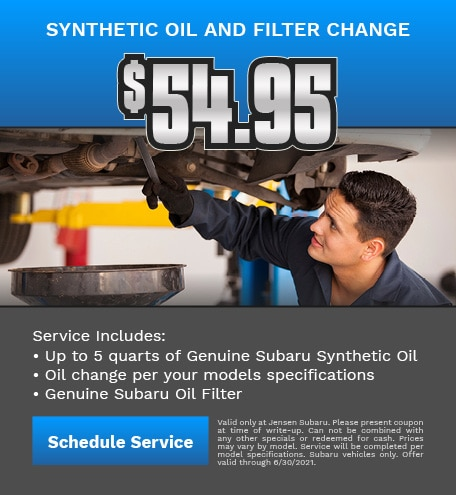 Synthetic Oil and Filter Change
