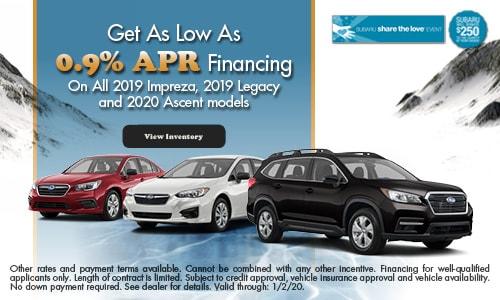 Get As Low As 0.9% APR Financing
