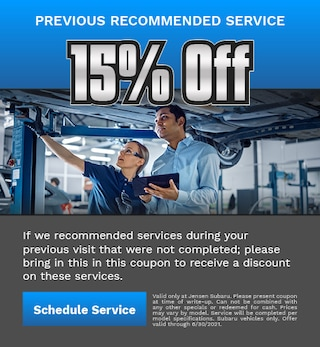 Previous Recommended Service