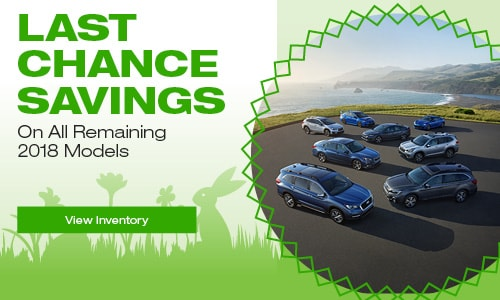 Last Chance Savings on all Remaining 2018 Models