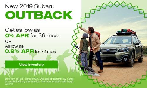 2019 Subaru Outback - April