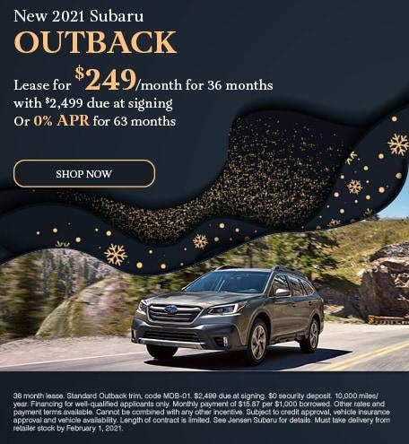 New 2021 Subaru Outback - January Special