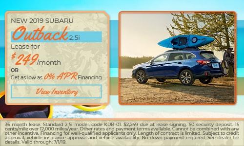 2019 Subaru Outback - June