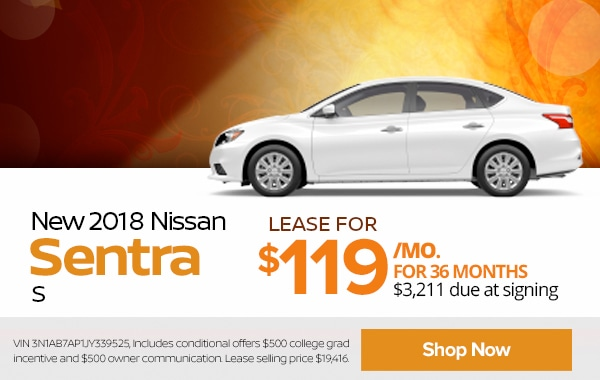 View New 2018 Nissan Sentra Inventory