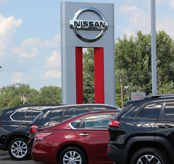 dealership sign at Balise Nissan of West Springfield