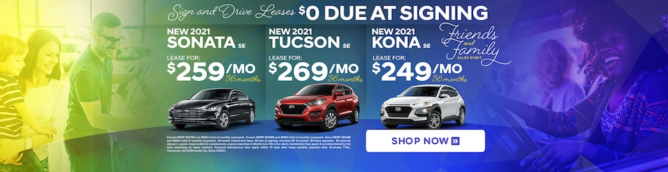 Sign & Drive Hyundai Leases Special