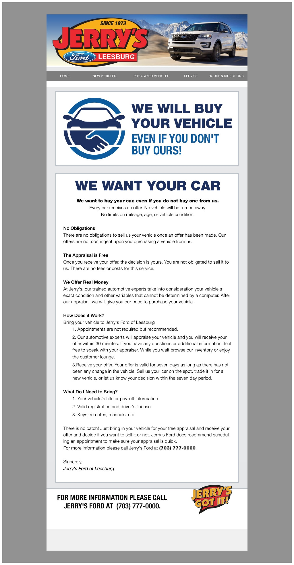 Jerry\'s Leesburg Ford | New Ford dealership in Leesburg, VA 20176