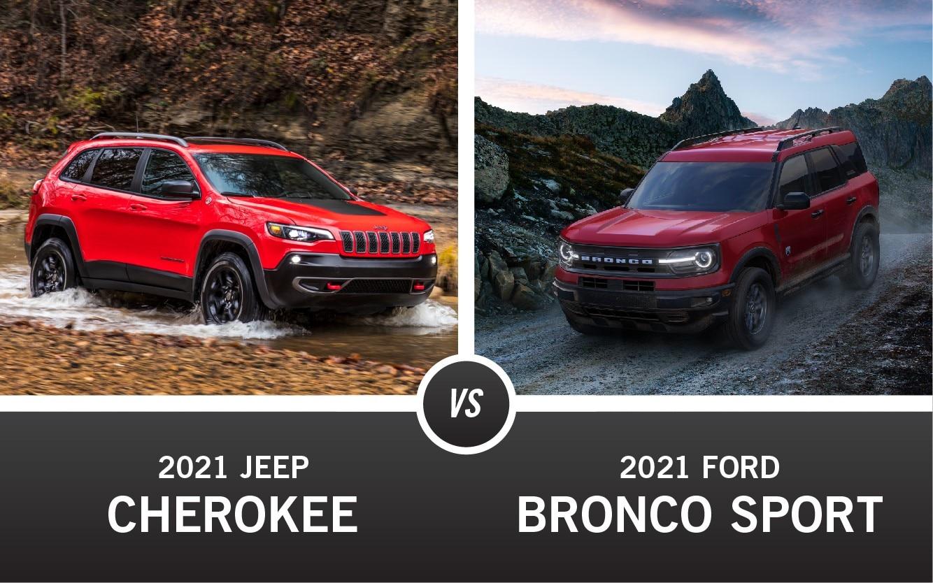 2021 Jeep Cherokee vs. 2021 Ford Bronco Sport