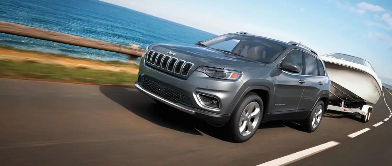 2021 Jeep Cherokee Towing Boat