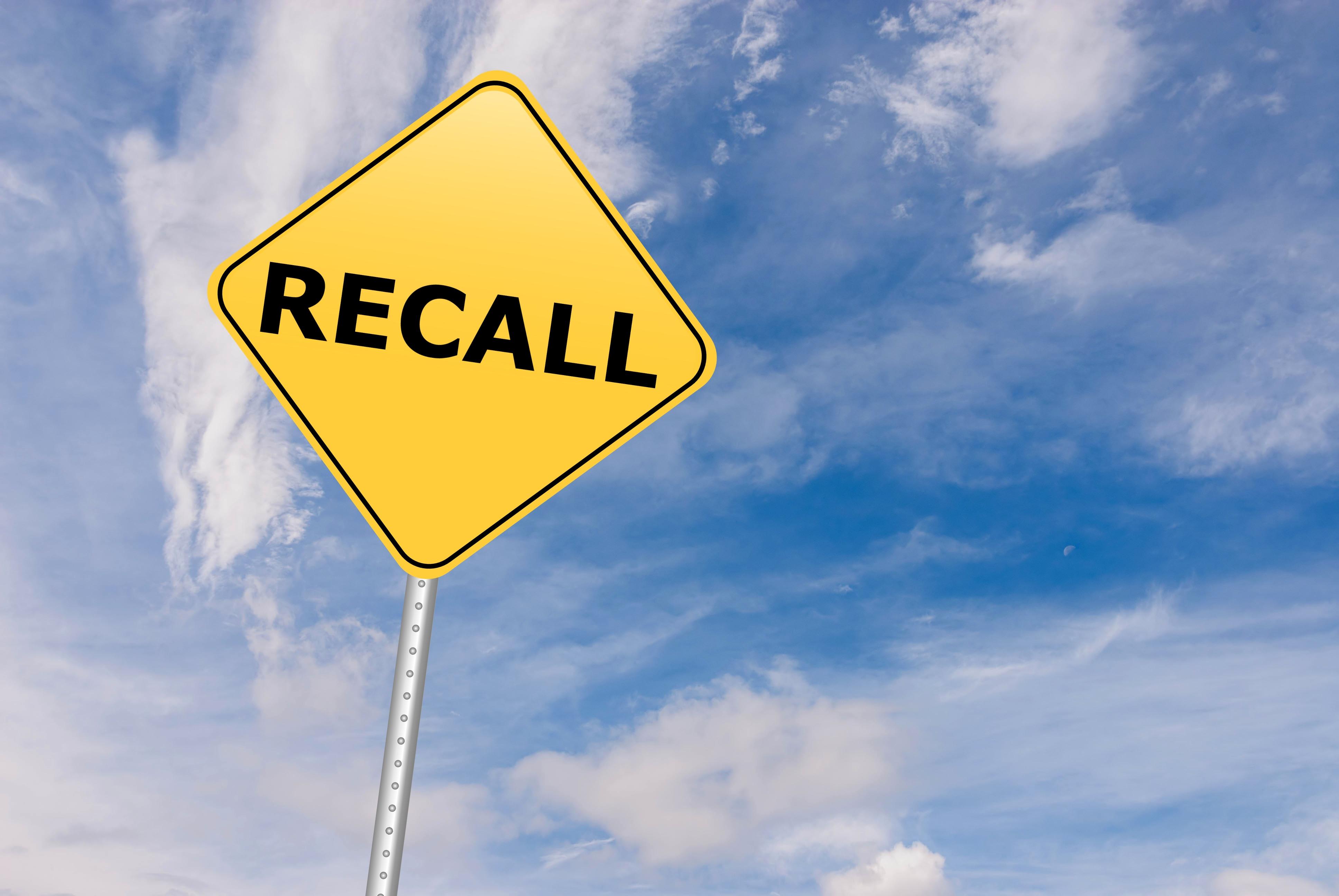 Recall Sign