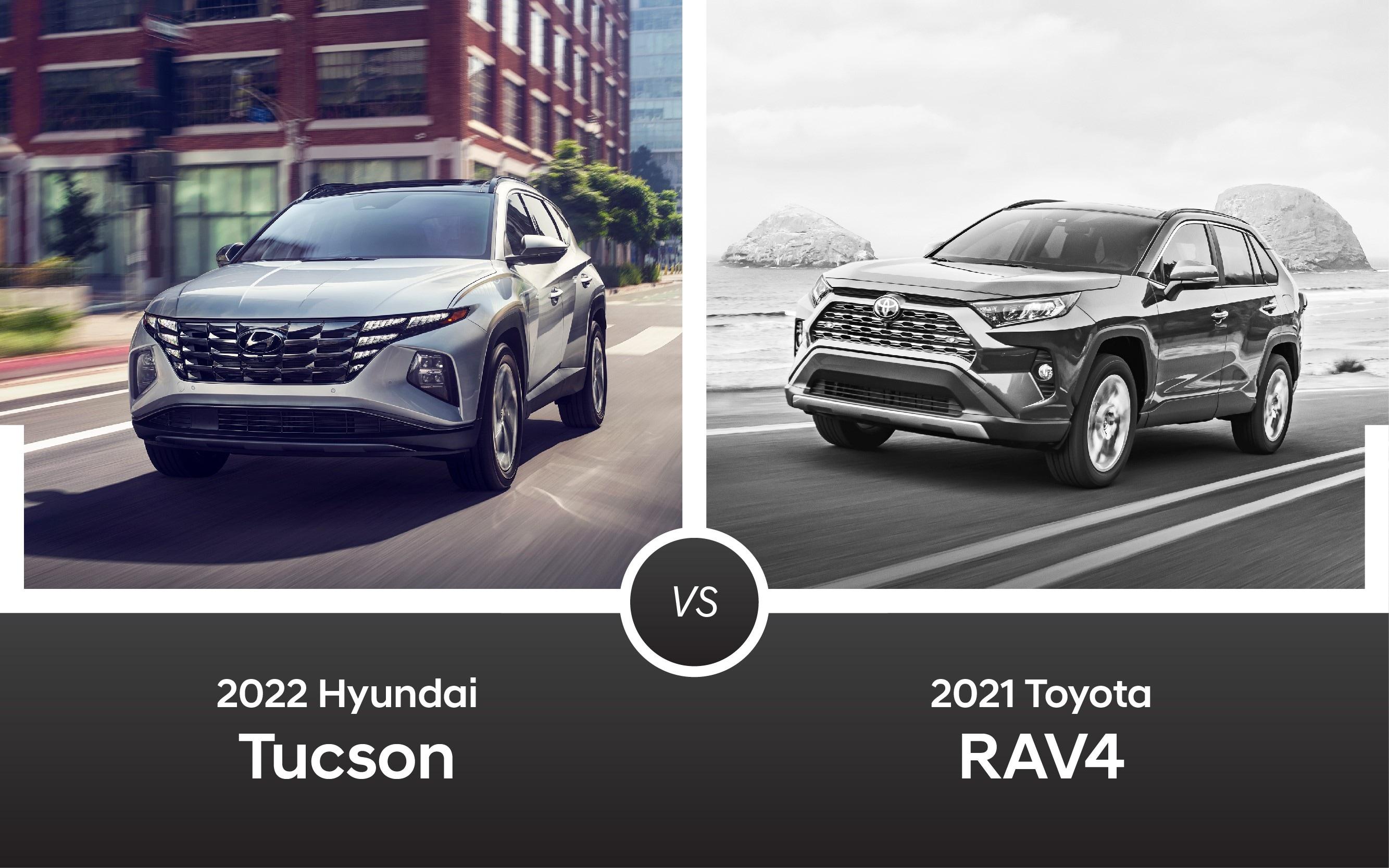 2022 Hyundai Tucson vs. 2021 Toyota RAV4