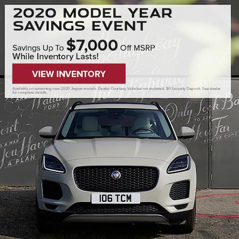 2020 Model Year Savings Event