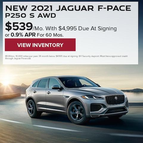 New 2021 Jaguar F-PACE P250 S AWD