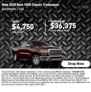 2020 Ram 1500 Classic Tradesman