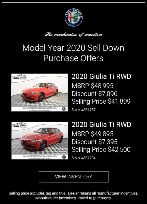 Model Year 2020 Sell Down Purchase Offers