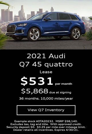 Audi Q7 Lease Offer April 2021