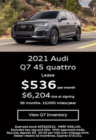 Audi Q7 Lease Offer May 2021