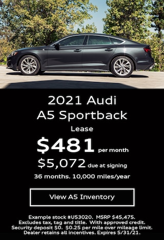 Audi A5 Sportback Lease Offer May 2021