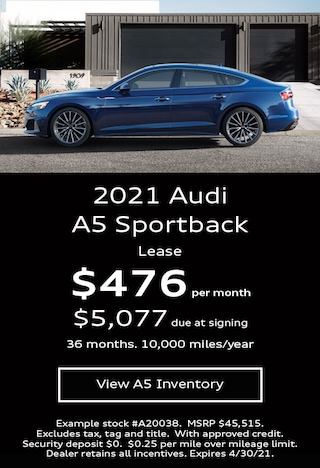 Audi A5 Sportback Lease Offer April 2021