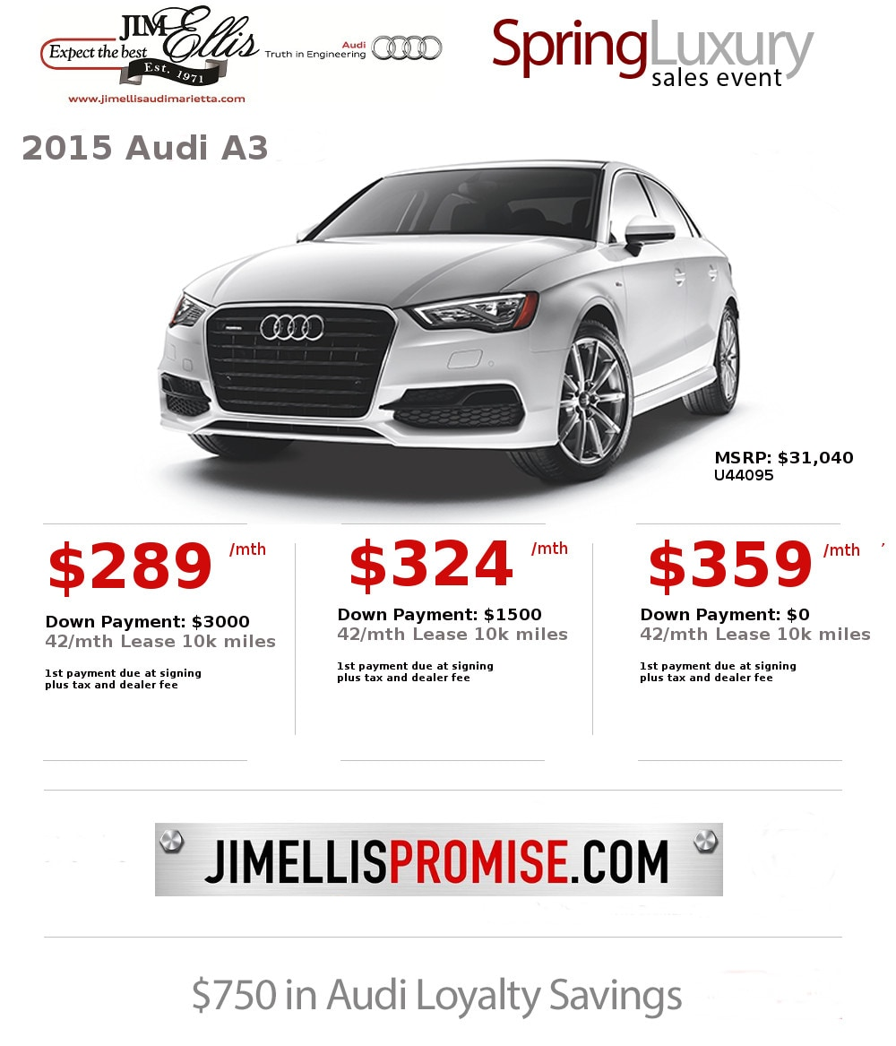 Audi Marietta New Audi Dealership In Marietta GA - Audi a3 lease