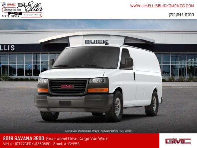 new 2018 gmc savana 3500 for sale at jim ellis automotive group vin 1gtz7gfgxj1260580. Black Bedroom Furniture Sets. Home Design Ideas