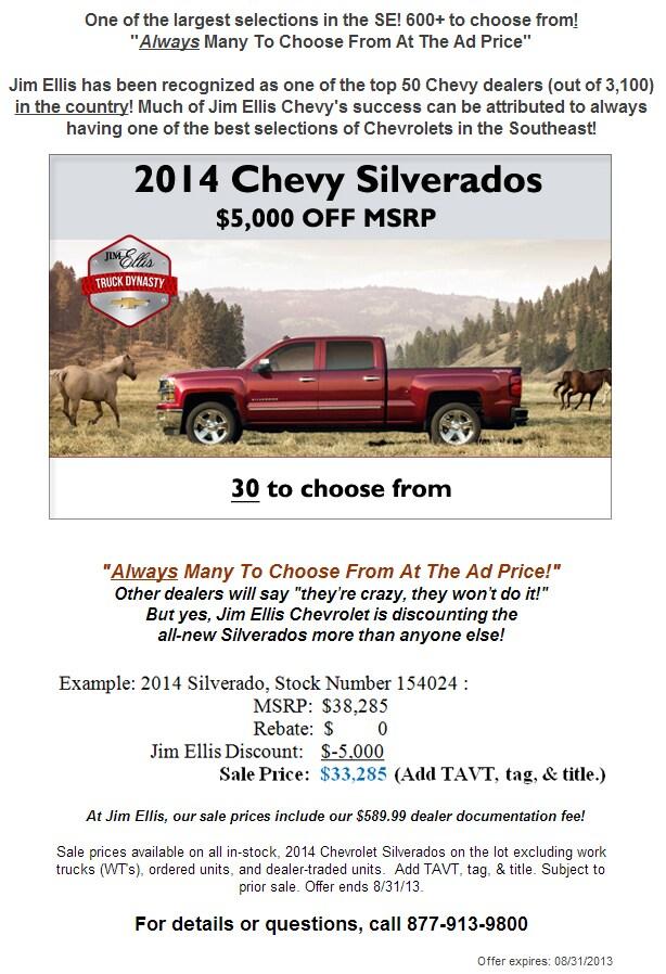 Jim Ellis Chevy Specials Jim Ellis Chevrolet Atlanta