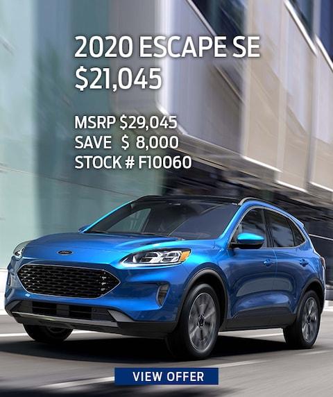 2020 Ford Escape SE Purchase Offer