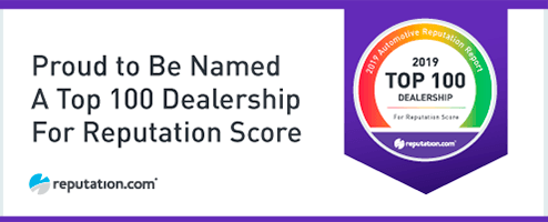 Top 100 Dealership For Reputation Score Award