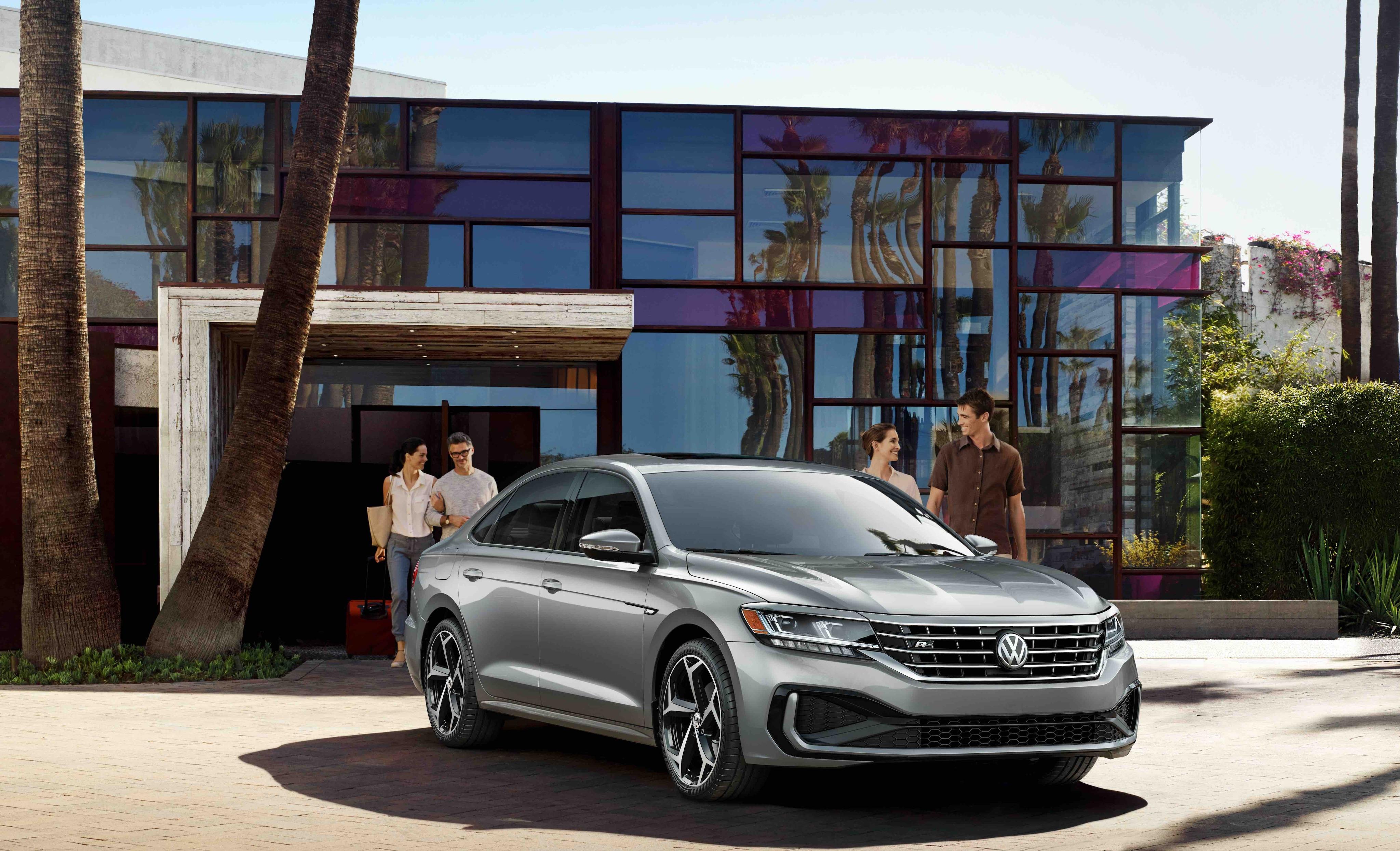 2020 VW Passat R-Line Gray Outdoors Luxury House