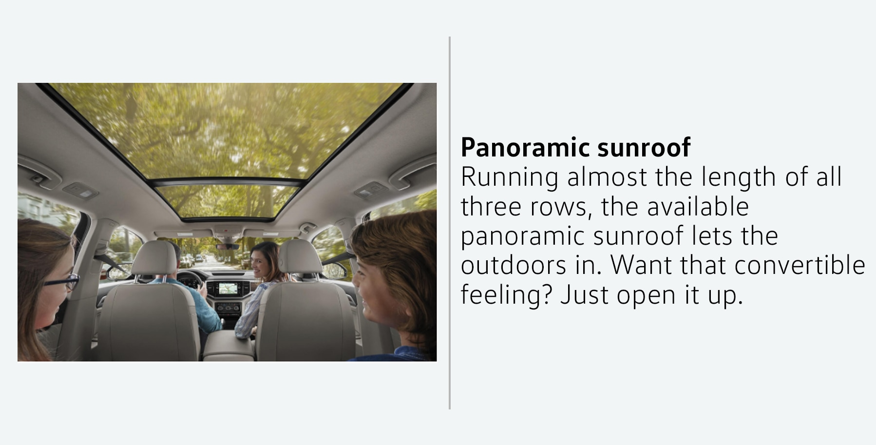 2019 Volkswagen Atlas SUV panoramic sunroof