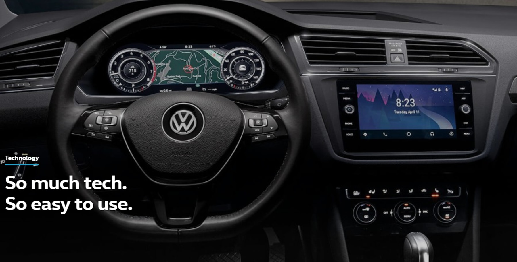 2019 Volkswagen Tiguan dashboard technology